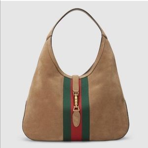 Gucci Suede Taupe Hobo Purse